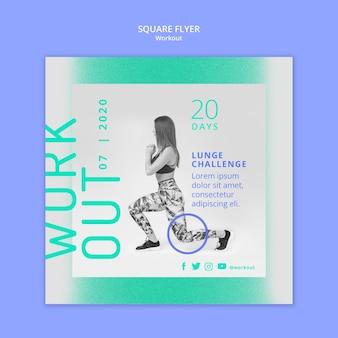 Lunge challenge square flyer