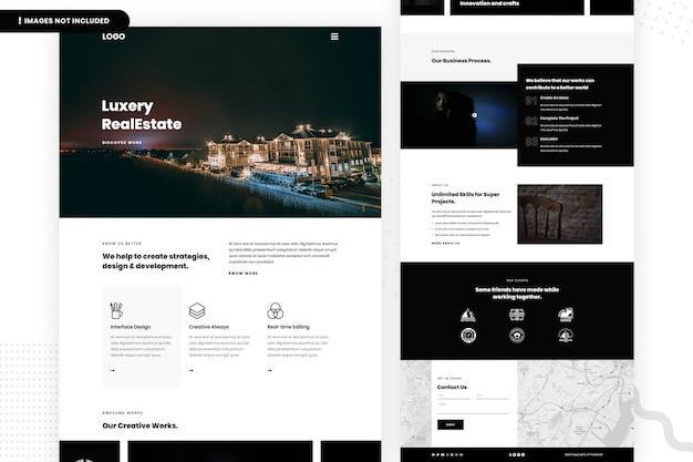 Luxery 부동산 로고 디자인