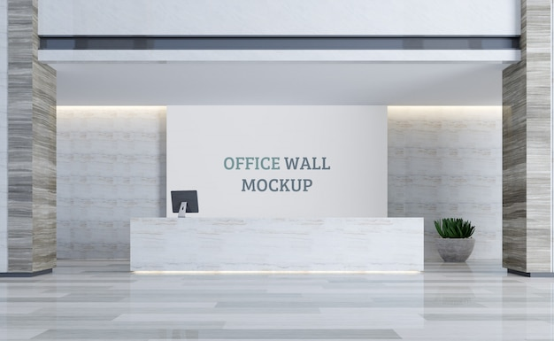 Luxurious reception space. wall mockup