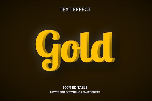 Luxury 3d golden text effect