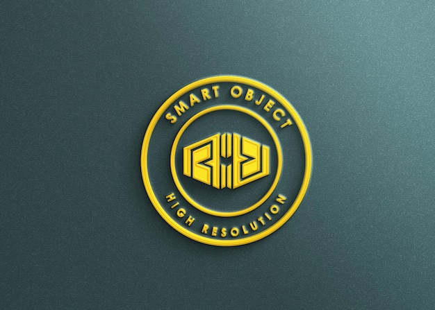 Роскошный 3d макет логотипа
