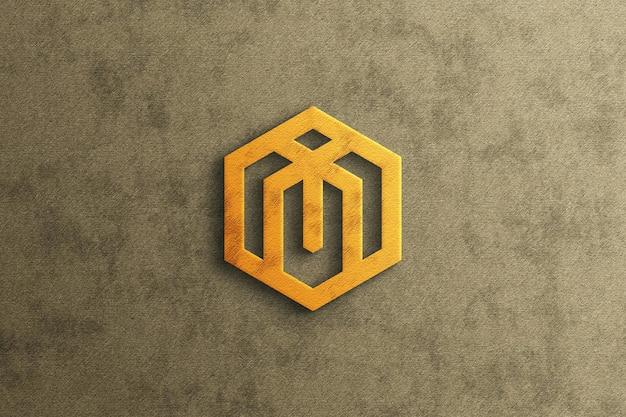 豪華な3dロゴのモックアップ