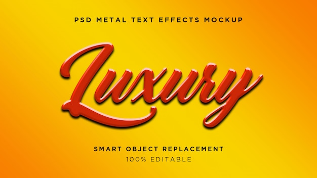 Luxury 3d text effect
