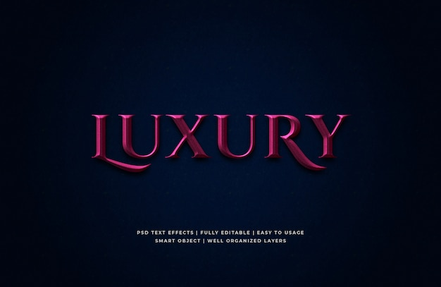 Luxury 3d text style effect