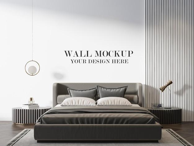 Luxury art deco bedroom wall mockup