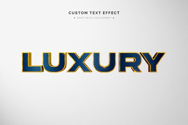 Luxury blue and gold 3d text style