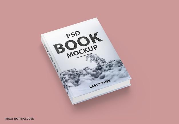 Изолированный макет роскошной книги в твердом переплете