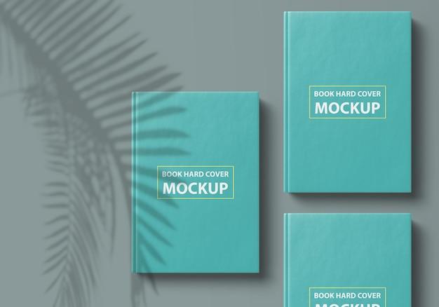 Роскошный дизайн макета книги в твердом переплете