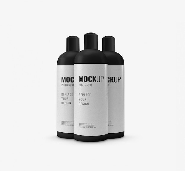 Luxury bottle mockup realistic