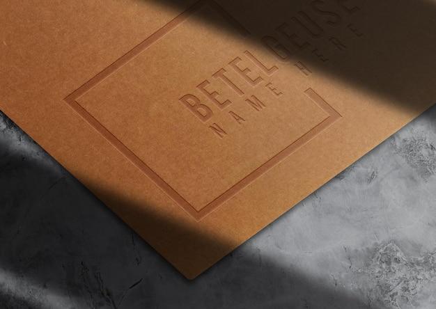 Роскошный макет из оберточной бумаги с тиснением