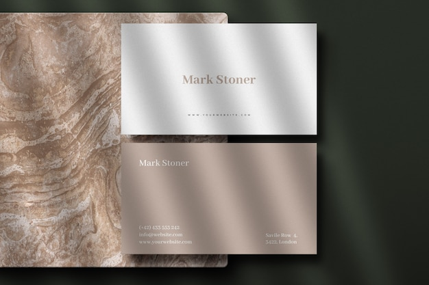 Luxury busienss card mockup