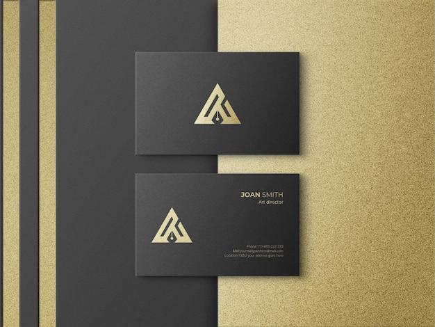 Luxury business card mockup design