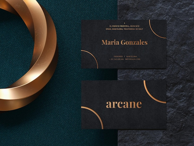 Luxury business card mockup template
