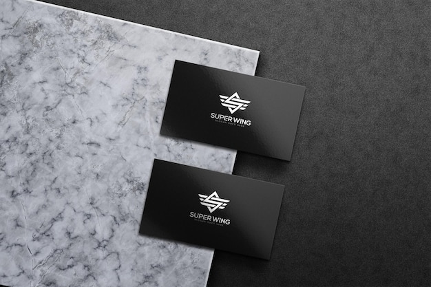 Luxury business card mockup template