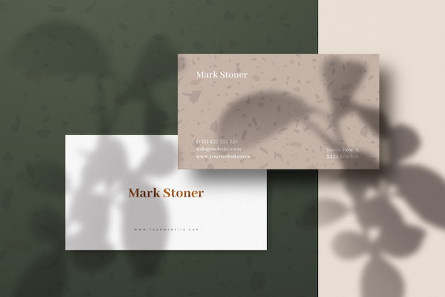 Luxury business card mockup