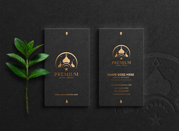 Luxury business card  realistic texture