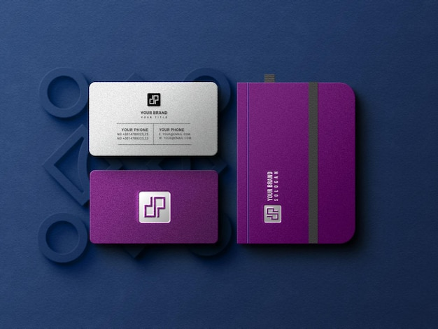 Luxury business card with not book mockup