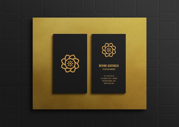 Luxury business card with embossed and letterpress effect