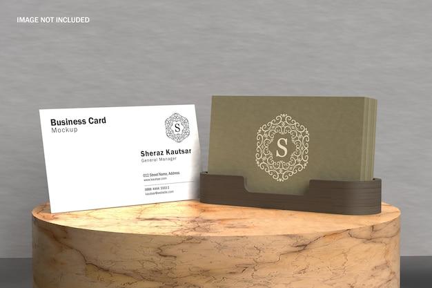 Роскошная визитка с макетом держателя