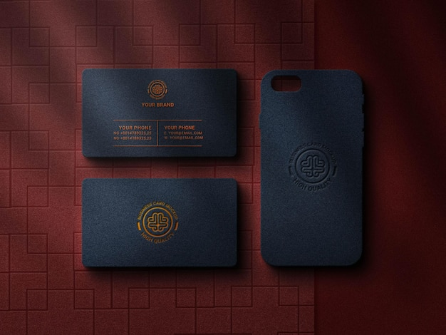 Luxury business card with logo mockup