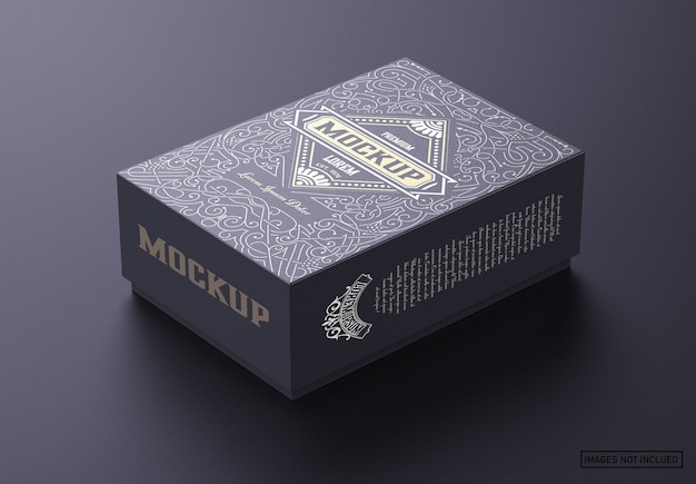 Luxury cardboard box mockup