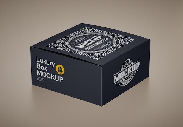 Роскошный макет картонной коробки
