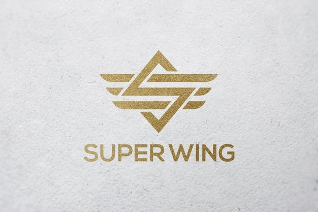 Luxury clean logo mockup template