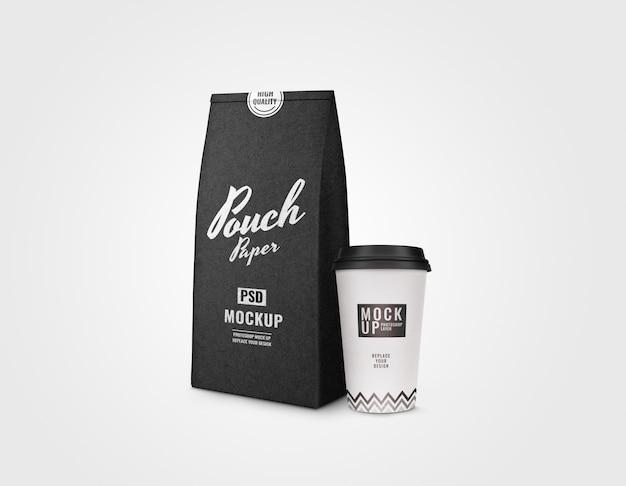 Роскошный кофейный сервиз макет