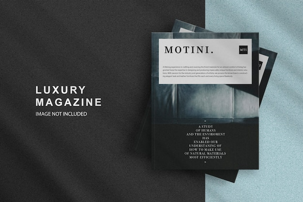 Luxury cover magazine design mockup