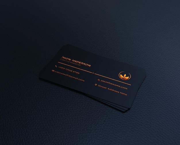 Luxury dark business card logo mockup