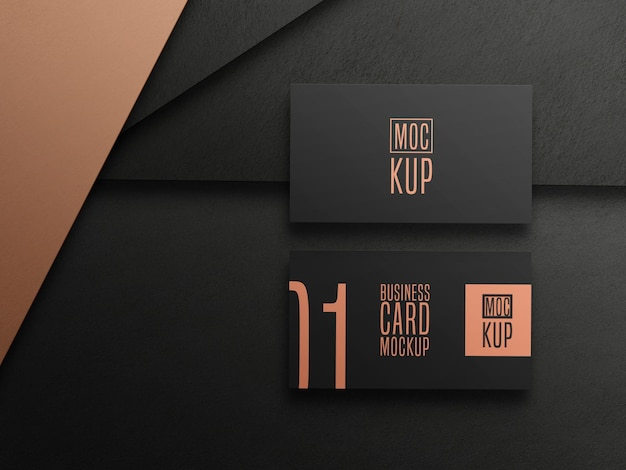 Luxury dark business card mockup