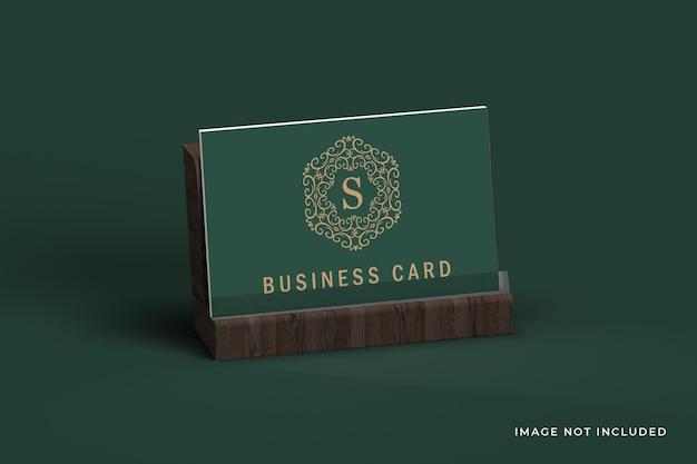 Роскошная темная визитка с макетом держателя