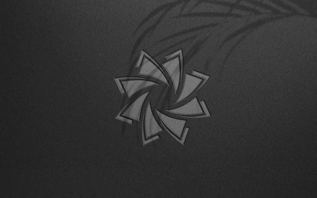 Роскошный темный дизайн макета логотипа