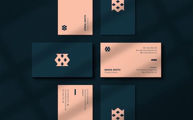 Luxury and elegant business card mockup