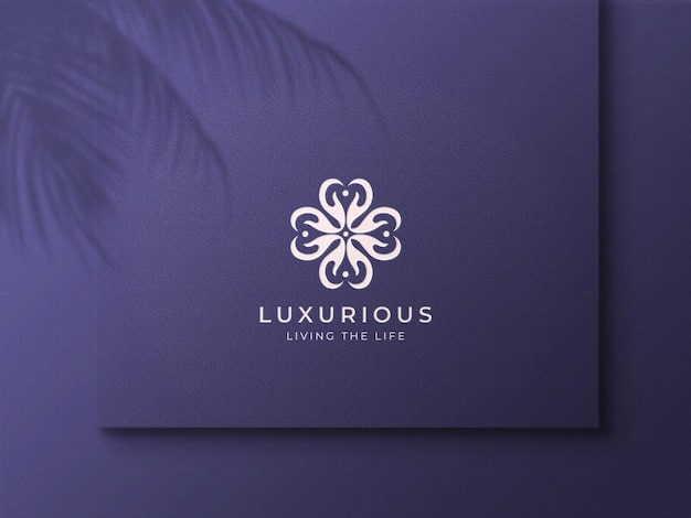 Luxury embossed logo mockup