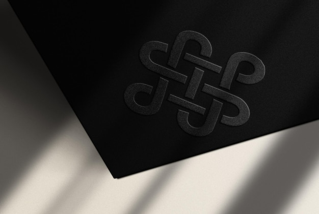 Luxury embossed mockup with white surface