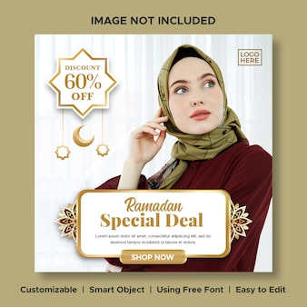 Luxury fashion ramadan special price big sale discount banner