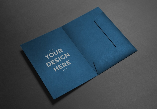 Luxury folder mockup