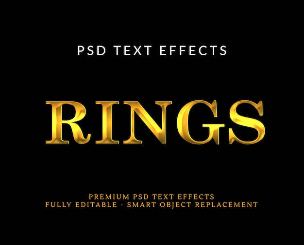 Luxury gold 3d text style effect psd