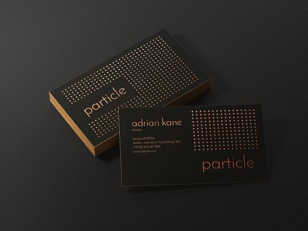 Роскошный золотой и черный макет визитной карточки
