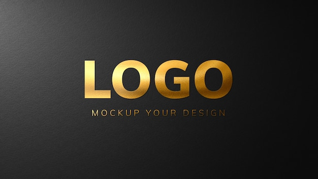 Luxury gold logo mockup design