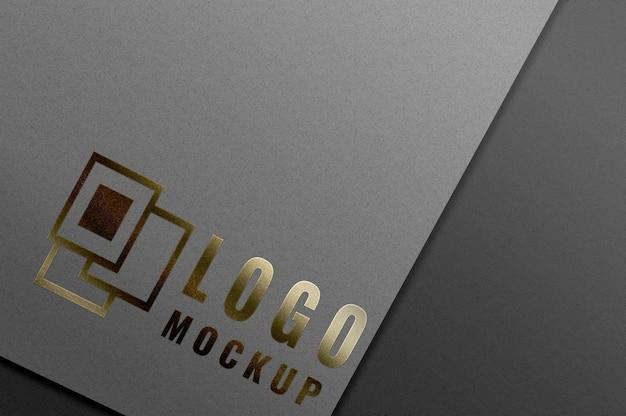 Luxury gold logo mockup