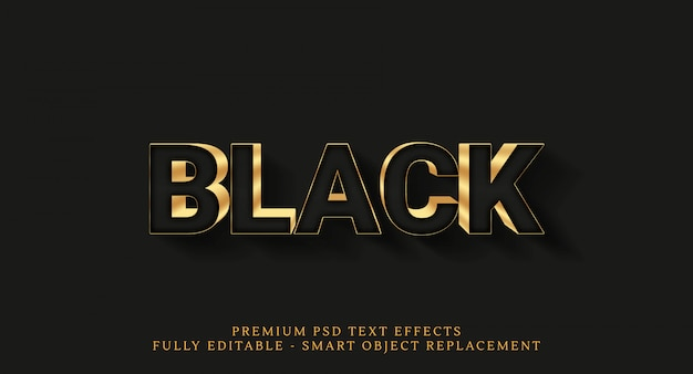 Luxury gold text effects isolated on black