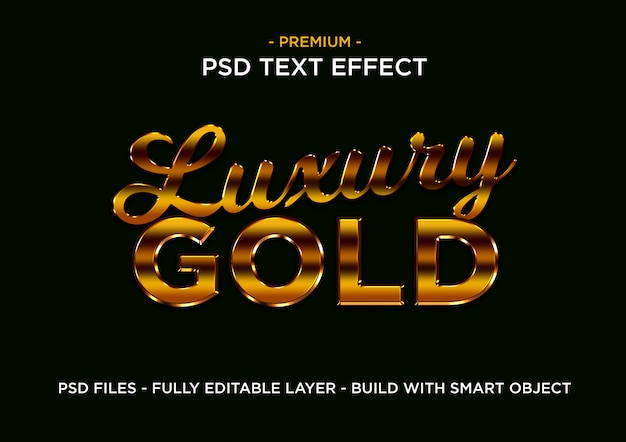 Luxury gold text styles effect