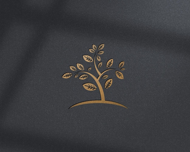 Luxury golden logo mockup design for business