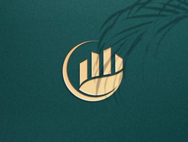 럭셔리 황금 로고 모형 디자인
