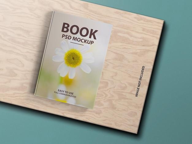 Роскошный дизайн макета обложки твердой книги psd