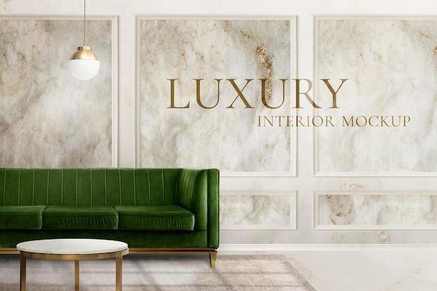 Luxury home interior mockup
