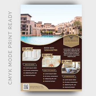 Luxury hotel template for poster, flyer