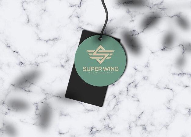 Luxury label tag logo mockup template